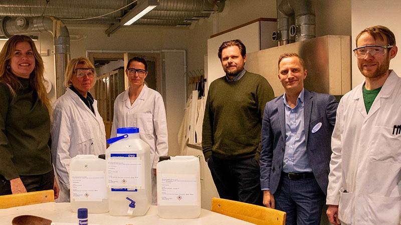Haninge kommun. Bildtext: Från vänster Maria Fägersten, Annika Skarplöth, Annika Persson, Tobias Hammarberg, Stellan Andersson och Rickard Hedman